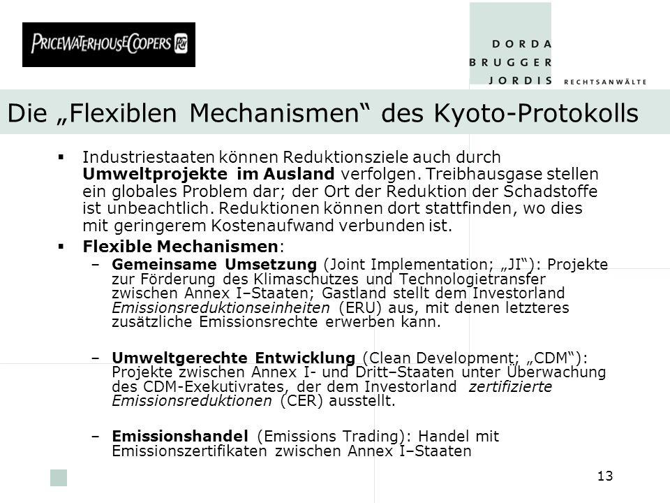 """Die """"Flexiblen Mechanismen des Kyoto-Protokolls"""