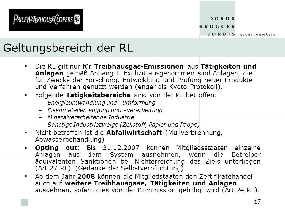 Geltungsbereich der RL