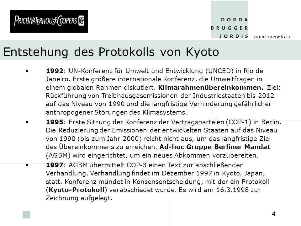 Entstehung des Protokolls von Kyoto