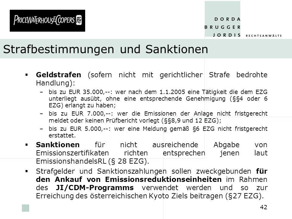 Strafbestimmungen und Sanktionen