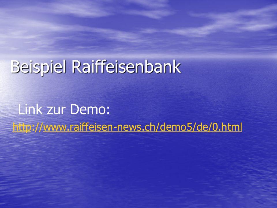 Beispiel Raiffeisenbank