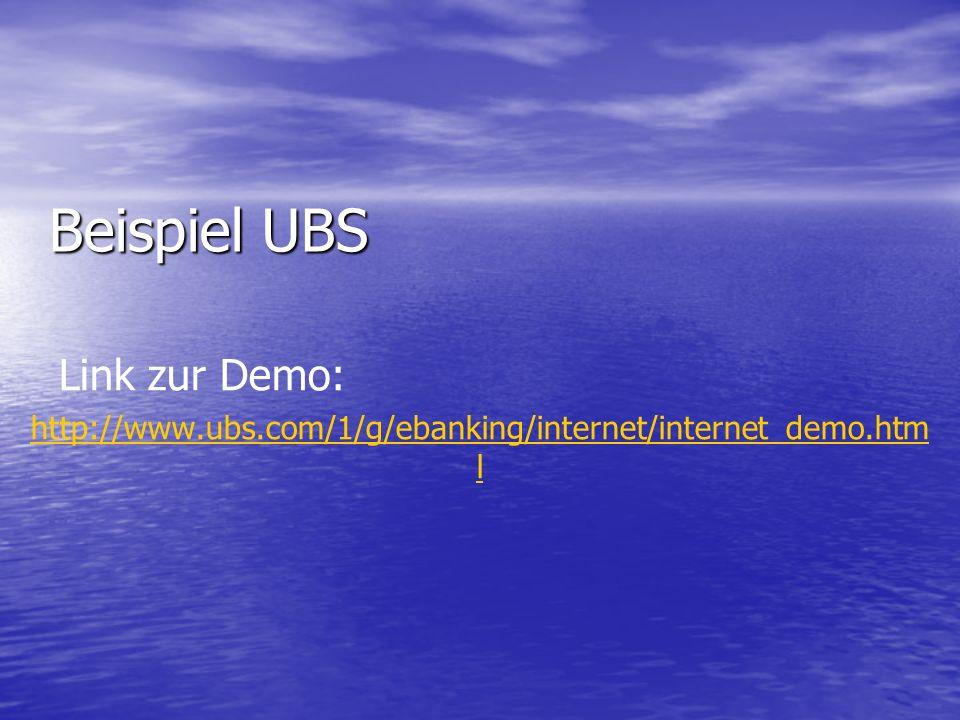 Beispiel UBS Link zur Demo: