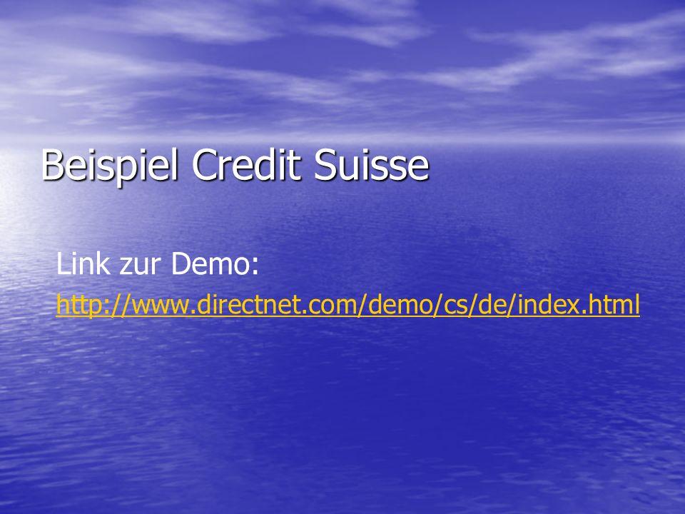 Beispiel Credit Suisse