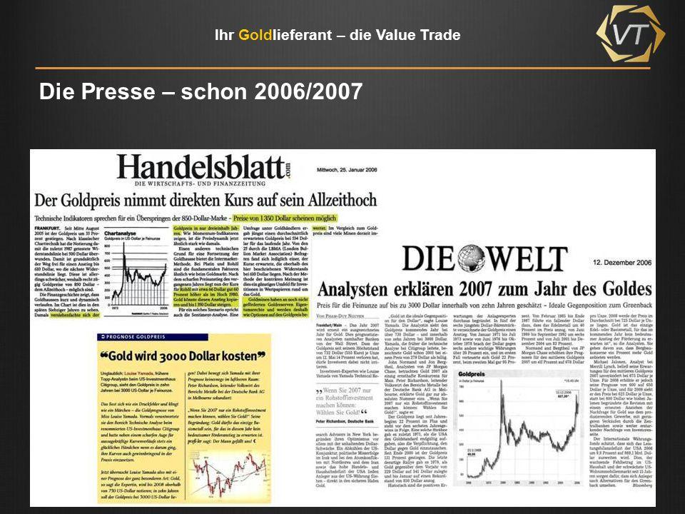 Die Presse – schon 2006/2007