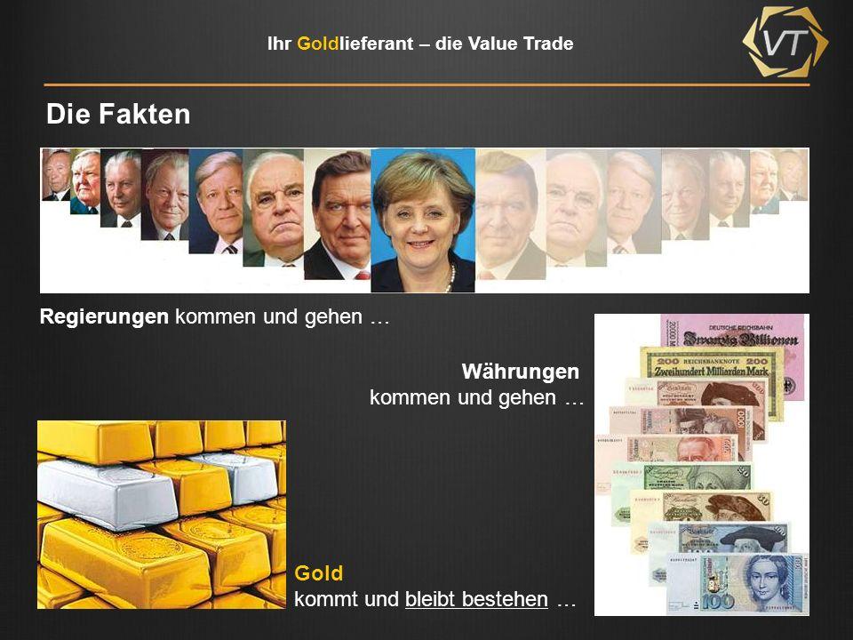 Die Fakten Regierungen kommen und gehen … Währungen kommen und gehen …