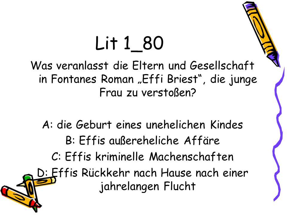 """Lit 1_80 Was veranlasst die Eltern und Gesellschaft in Fontanes Roman """"Effi Briest , die junge Frau zu verstoßen"""