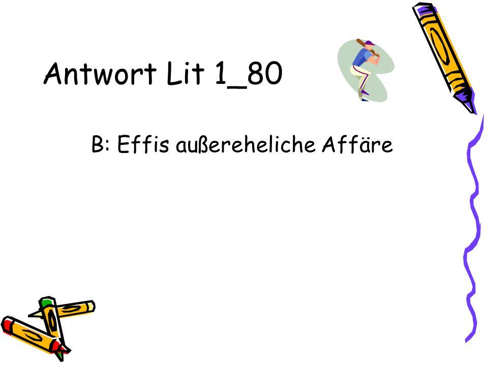B: Effis außereheliche Affäre