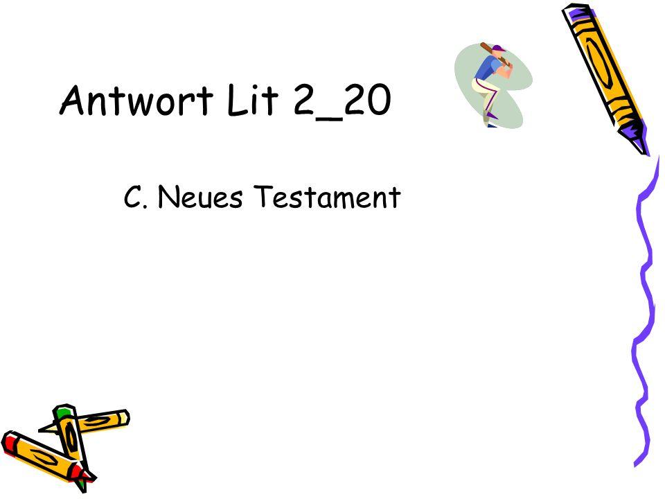 Antwort Lit 2_20 C. Neues Testament