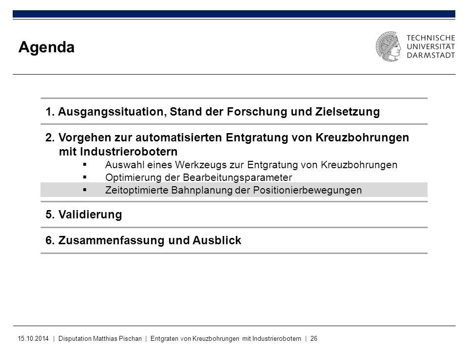 Agenda 1. Ausgangssituation, Stand der Forschung und Zielsetzung