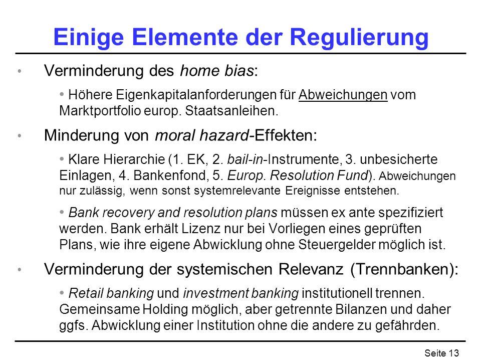 Einige Elemente der Regulierung