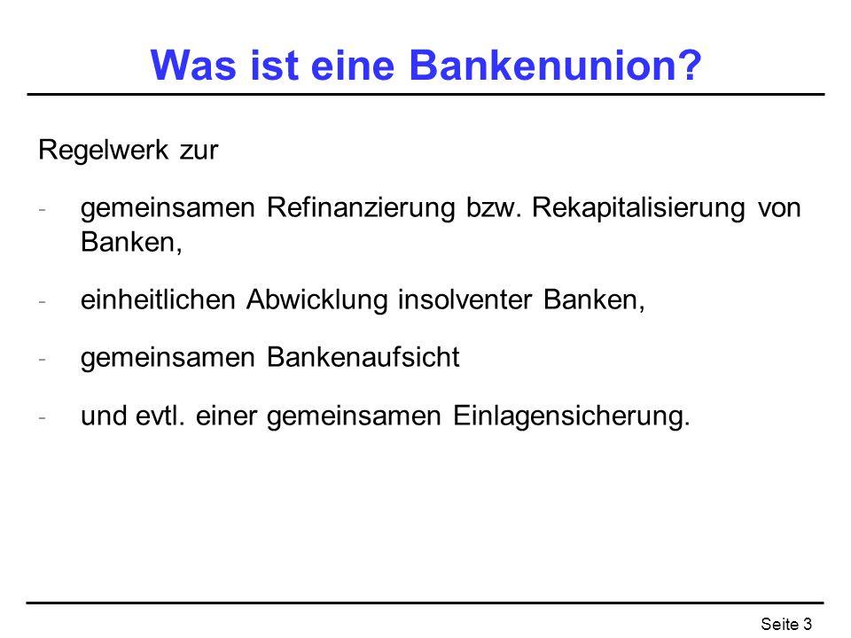 Was ist eine Bankenunion