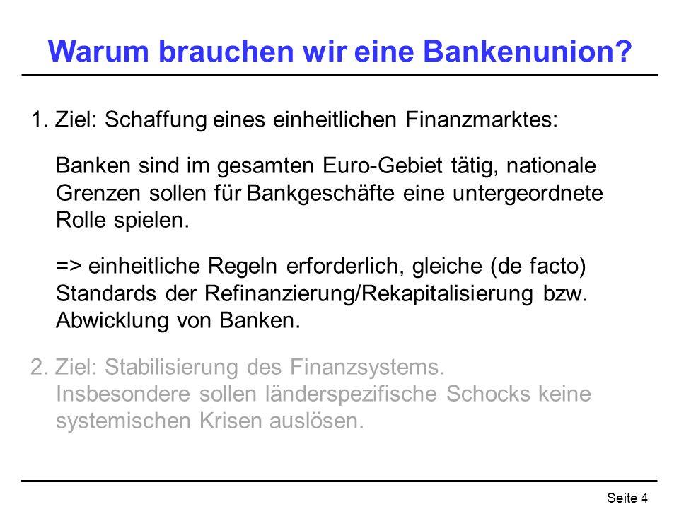 Warum brauchen wir eine Bankenunion