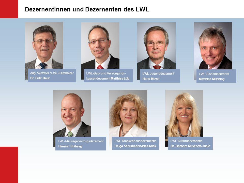 Dezernentinnen und Dezernenten des LWL