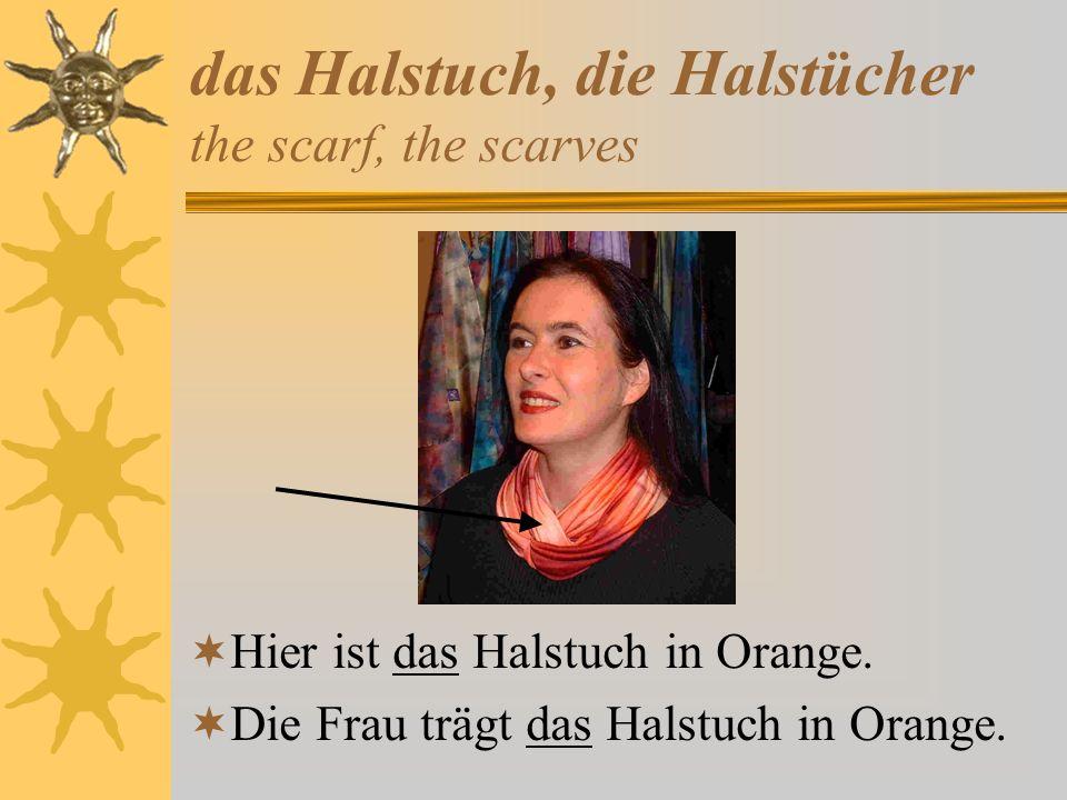 das Halstuch, die Halstücher the scarf, the scarves