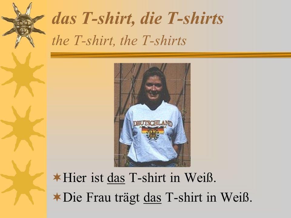 das T-shirt, die T-shirts the T-shirt, the T-shirts