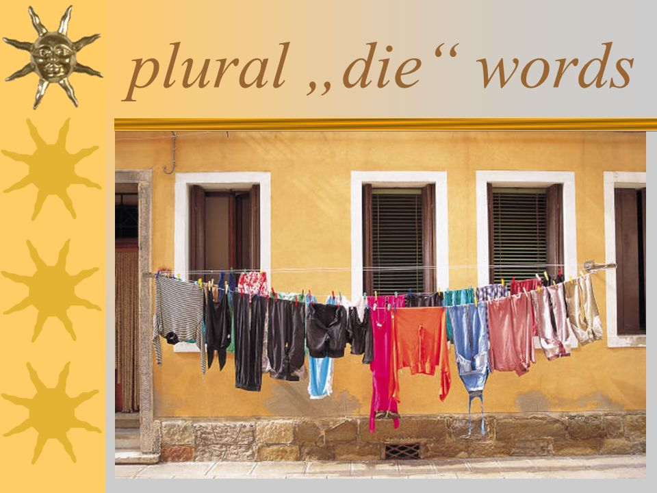 "plural ""die words"