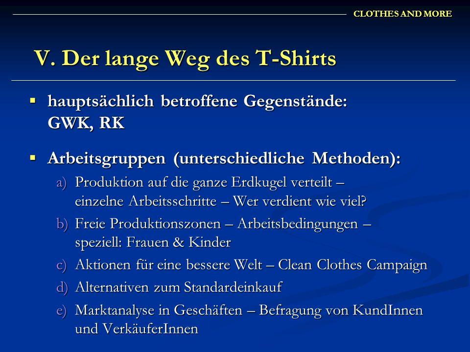 V. Der lange Weg des T-Shirts