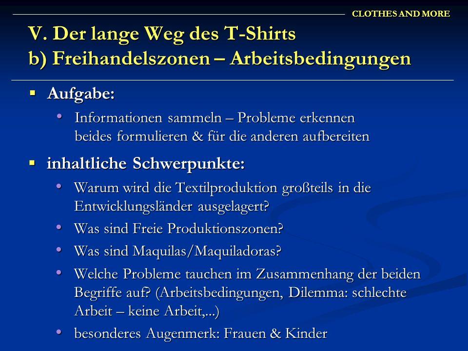 V. Der lange Weg des T-Shirts b) Freihandelszonen – Arbeitsbedingungen