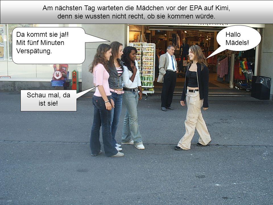 Am nächsten Tag warteten die Mädchen vor der EPA auf Kimi,