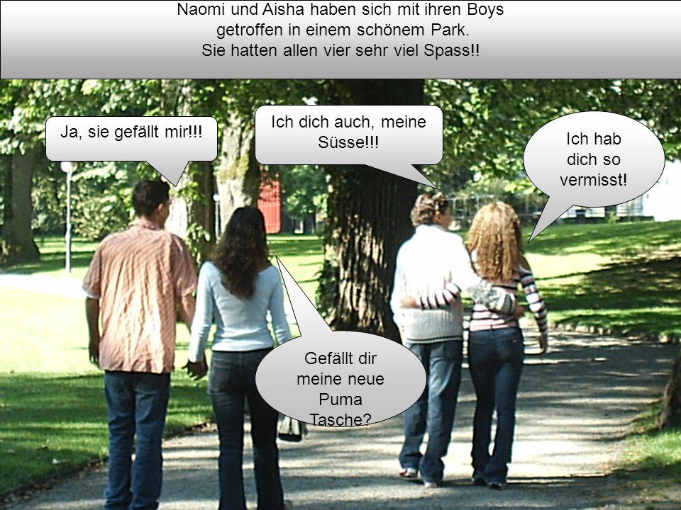 Naomi und Aisha haben sich mit ihren Boys