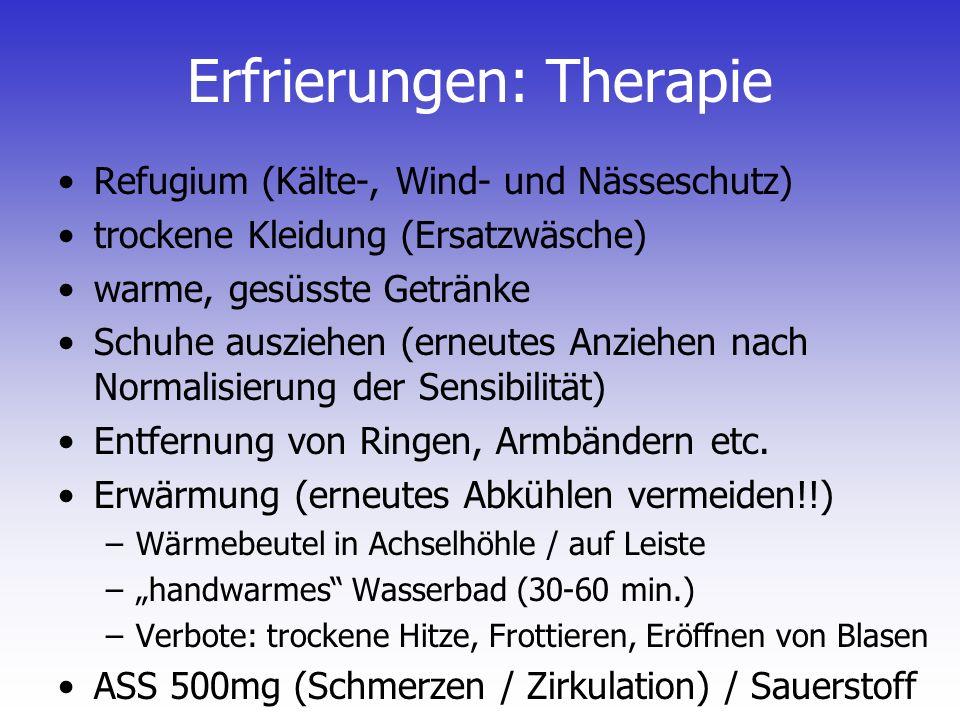 Erfrierungen: Therapie