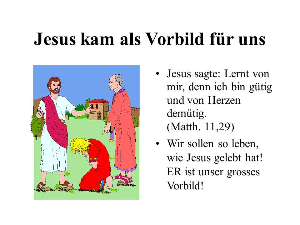 Jesus kam als Vorbild für uns