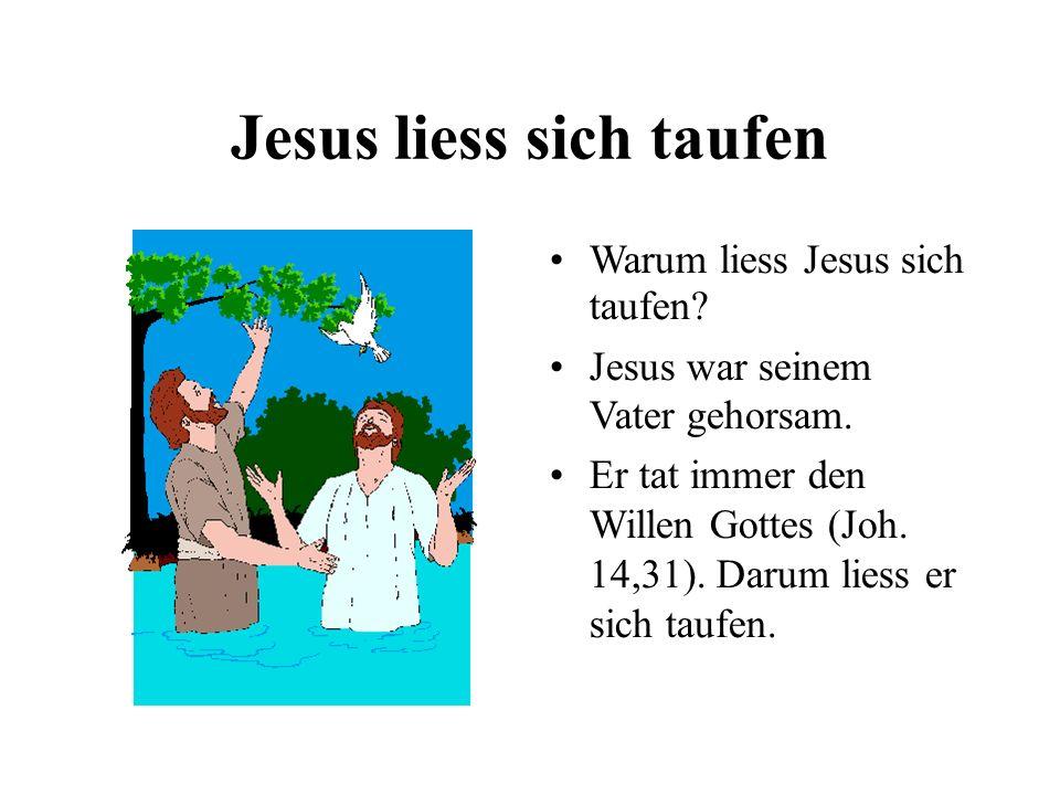 Jesus liess sich taufen