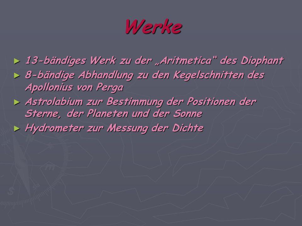 """Werke 13-bändiges Werk zu der """"Aritmetica des Diophant"""