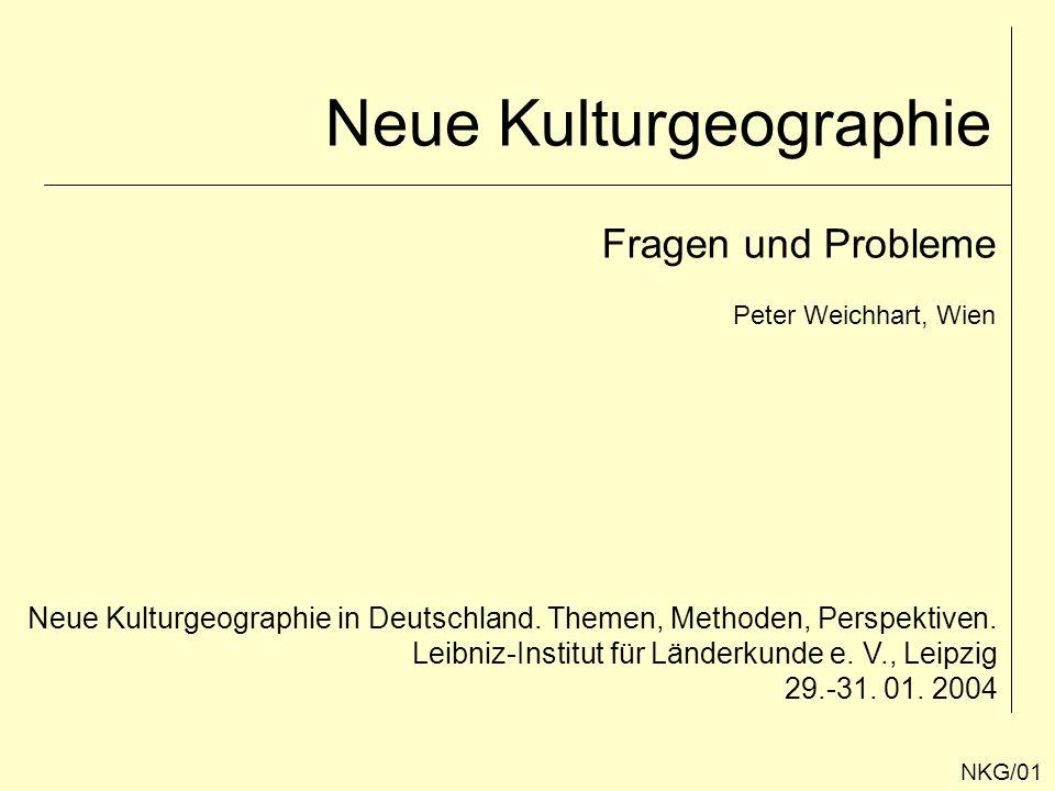 Neue Kulturgeographie