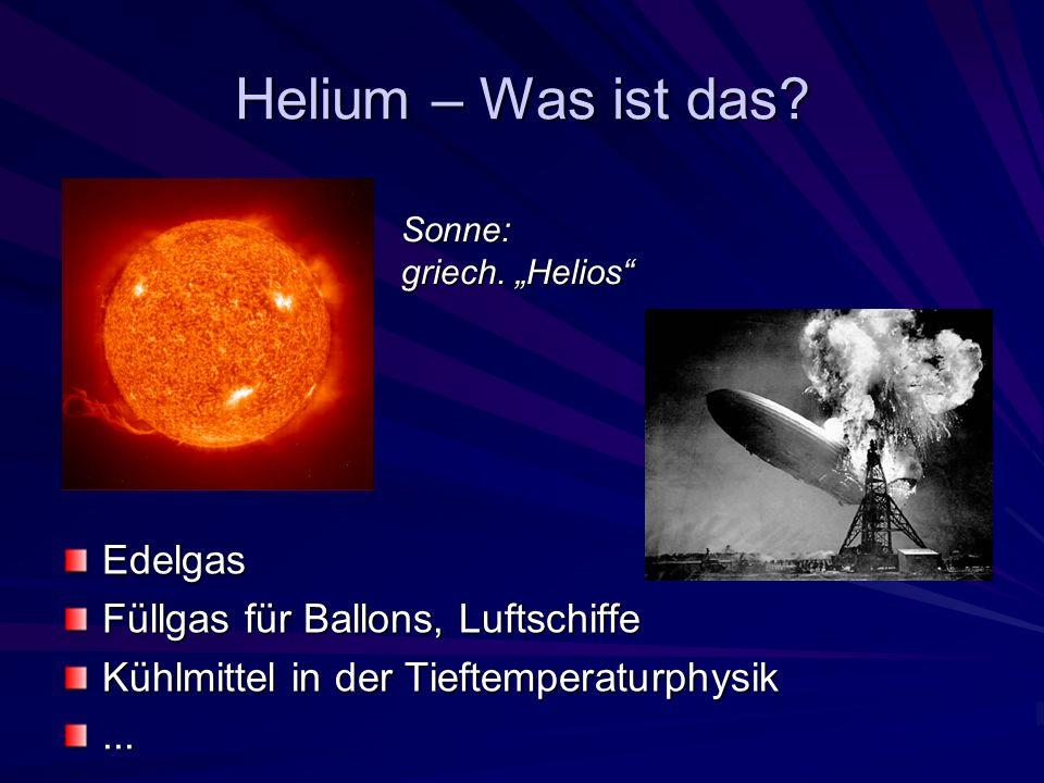 Helium – Was ist das Edelgas Füllgas für Ballons, Luftschiffe
