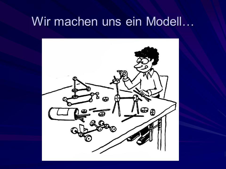 Wir machen uns ein Modell…