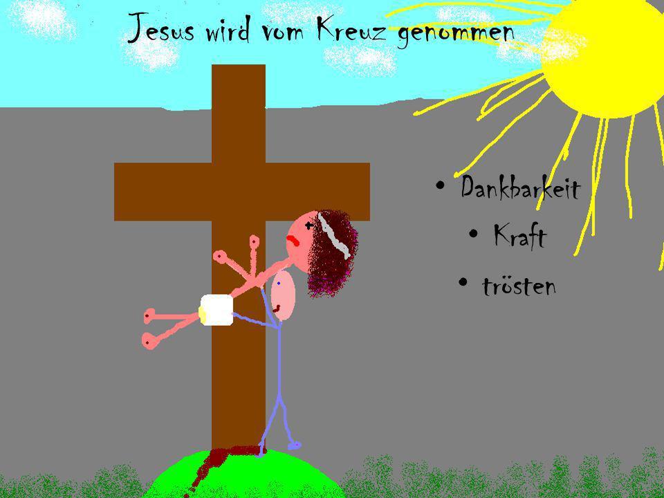 Jesus wird vom Kreuz genommen