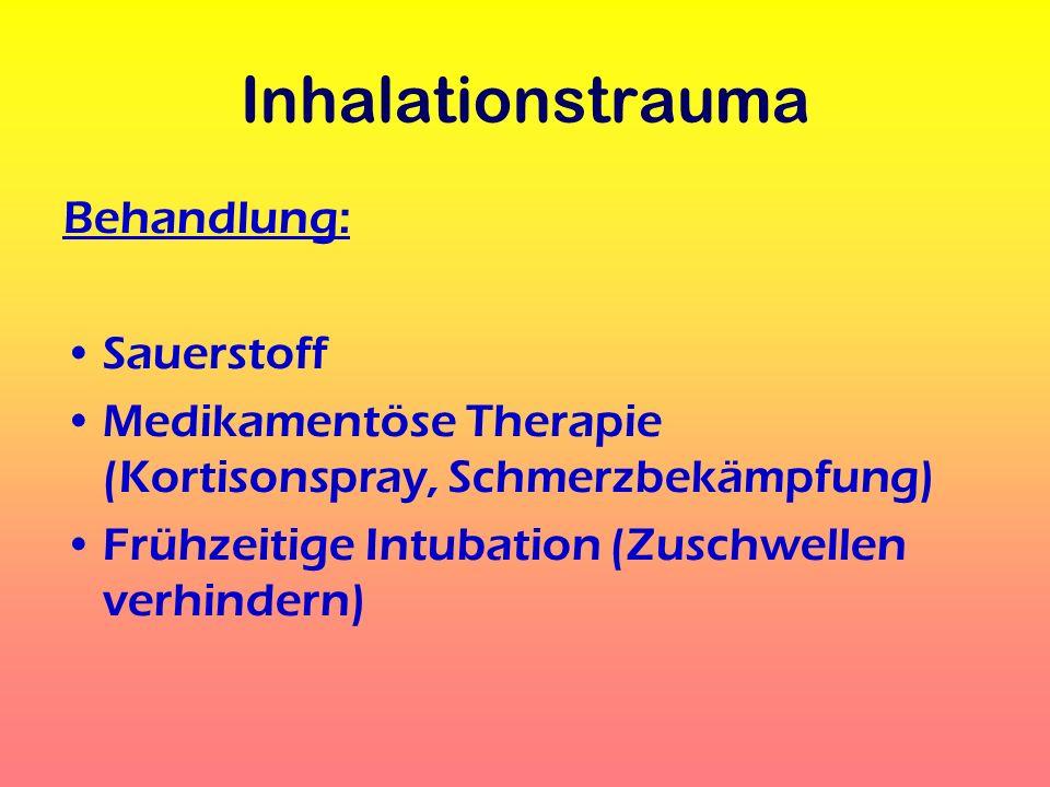 Inhalationstrauma Behandlung: Sauerstoff