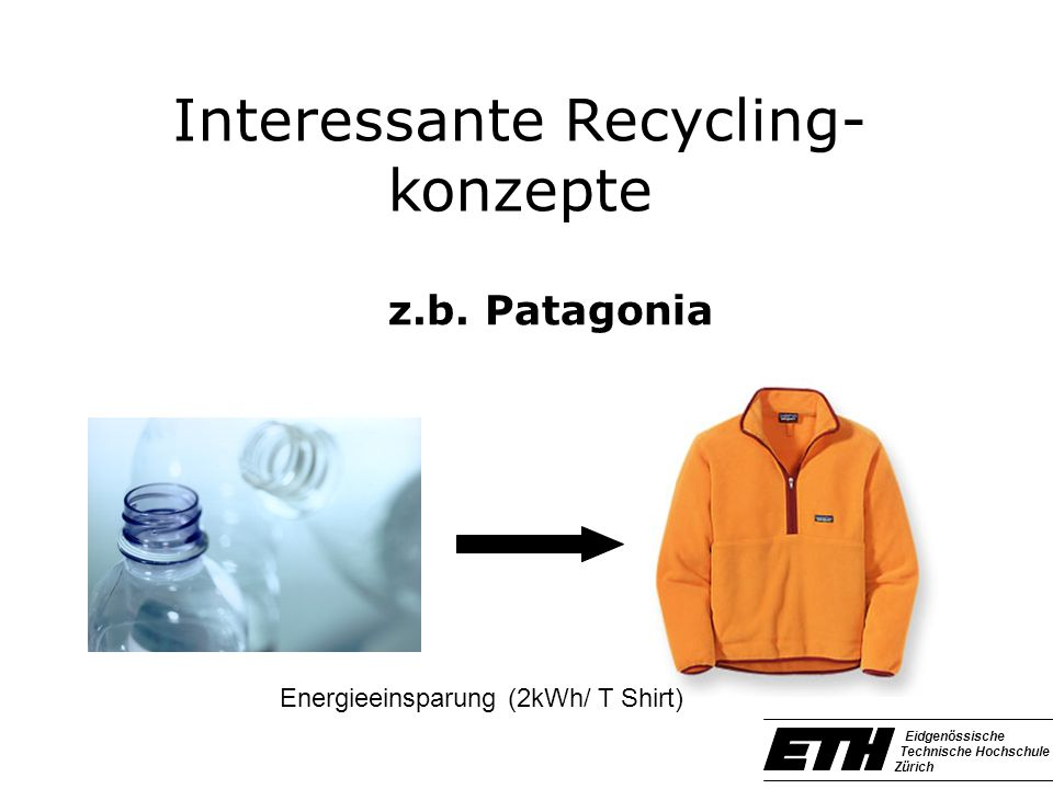 Interessante Recycling-