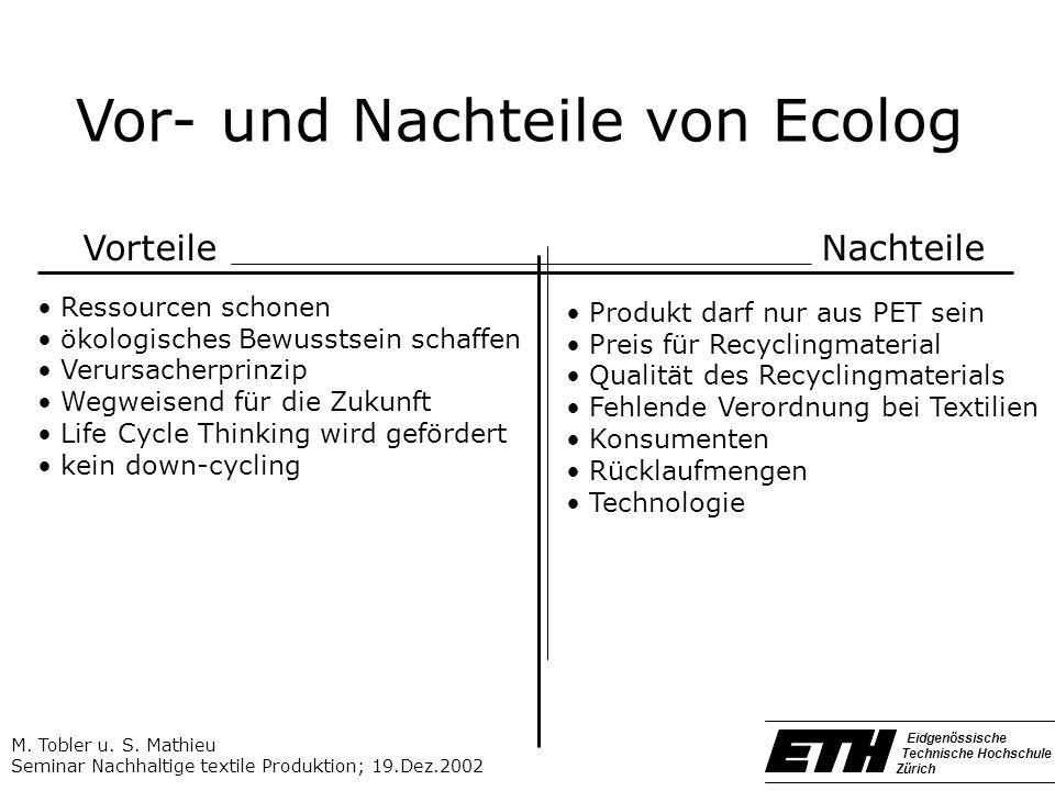 Vor- und Nachteile von Ecolog