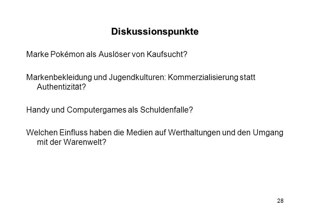 Diskussionspunkte Marke Pokémon als Auslöser von Kaufsucht