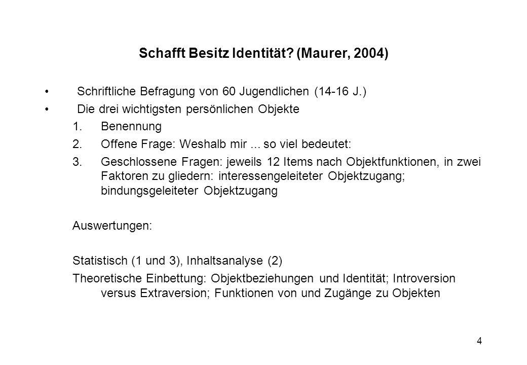 Schafft Besitz Identität (Maurer, 2004)