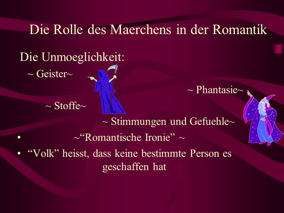 Die Rolle des Maerchens in der Romantik