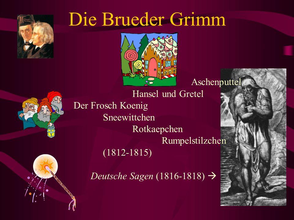 Die Brueder Grimm Aschenputtel Hansel und Gretel Der Frosch Koenig