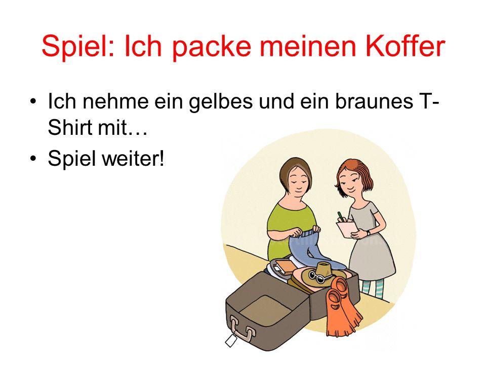 Spiel: Ich packe meinen Koffer
