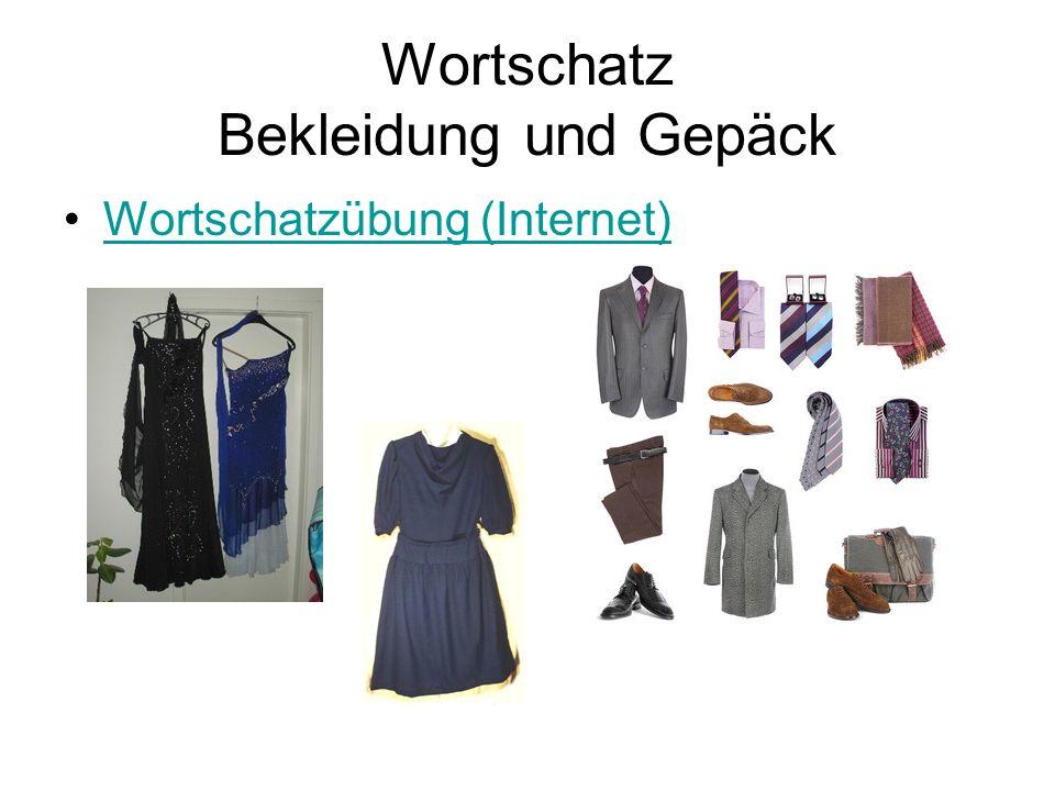 Wortschatz Bekleidung und Gepäck