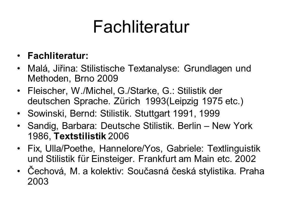 Fachliteratur Fachliteratur: