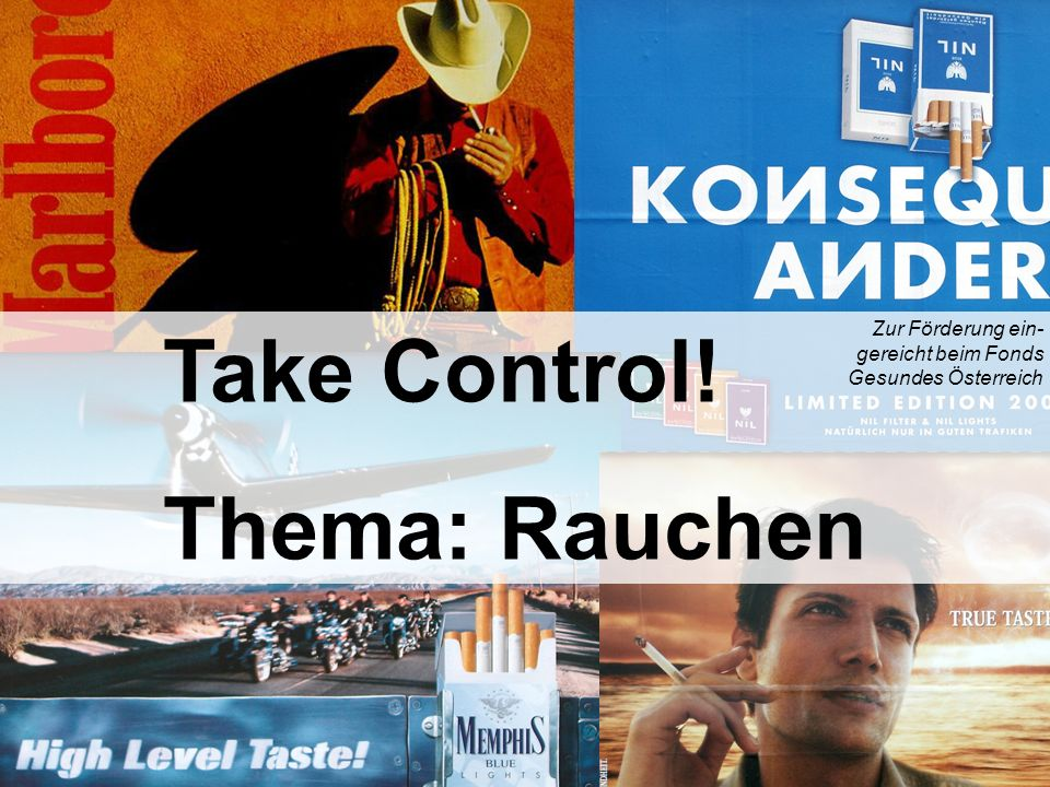 Take Control! Thema: Rauchen