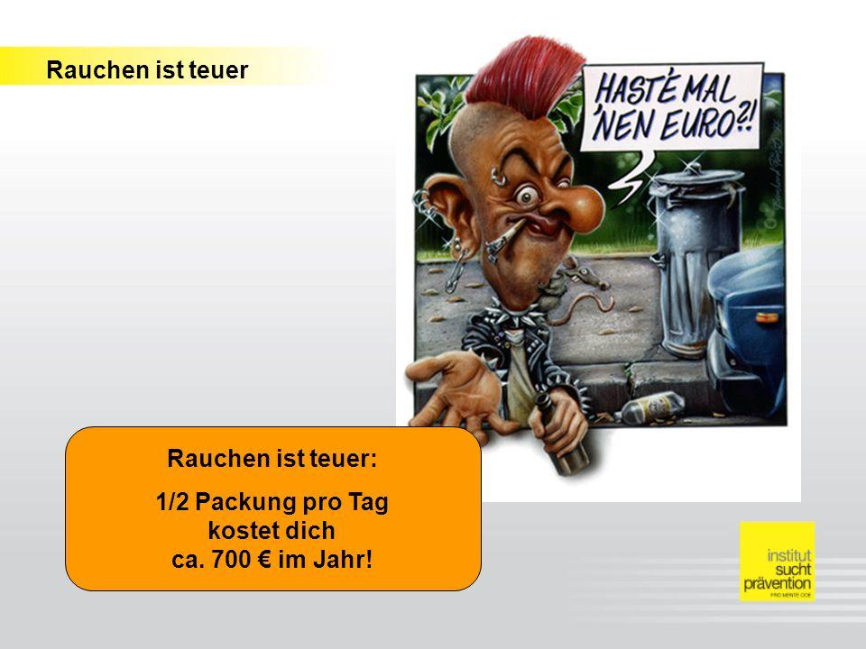 1/2 Packung pro Tag kostet dich ca. 700 € im Jahr!