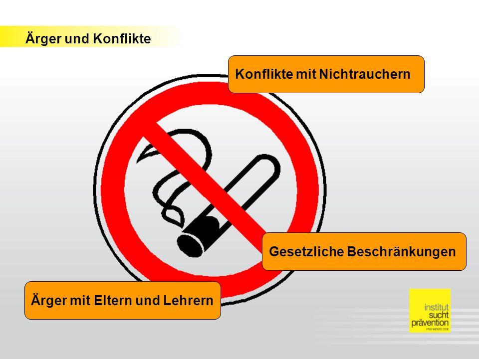 Konflikte mit Nichtrauchern