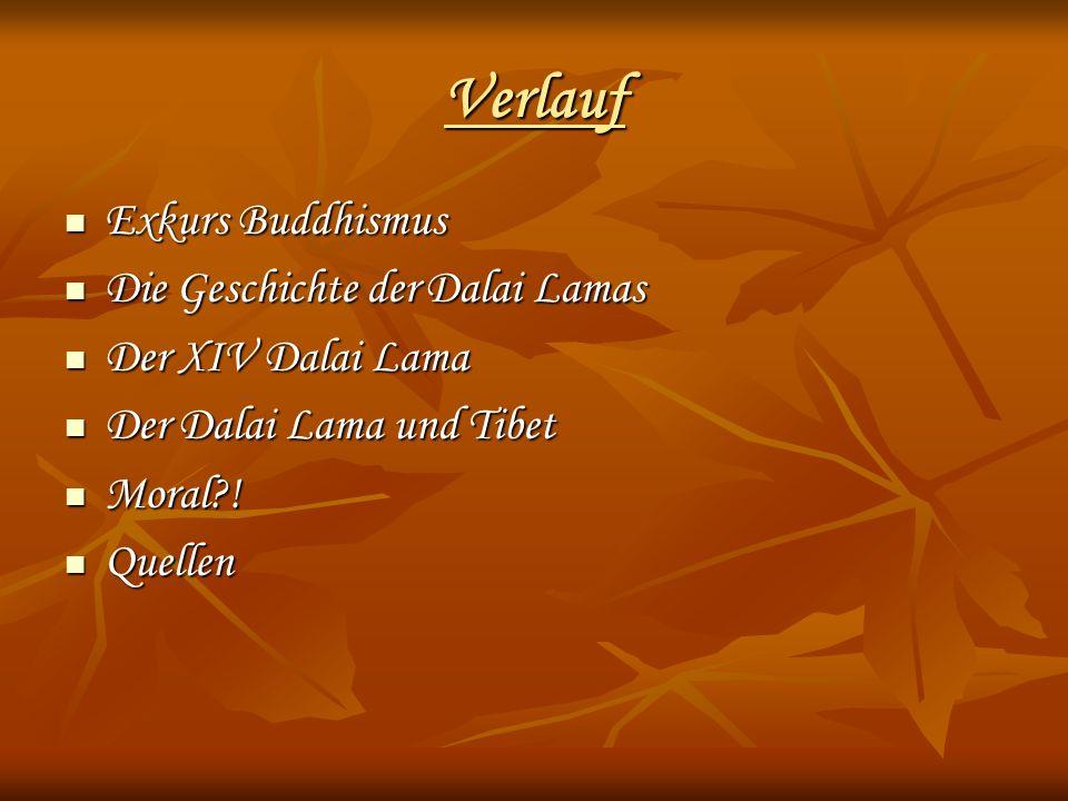 Verlauf Exkurs Buddhismus Die Geschichte der Dalai Lamas