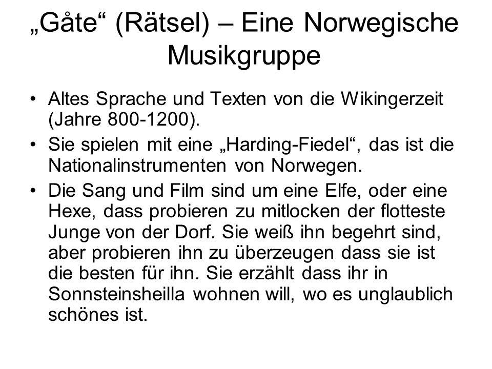 """""""Gåte (Rätsel) – Eine Norwegische Musikgruppe"""
