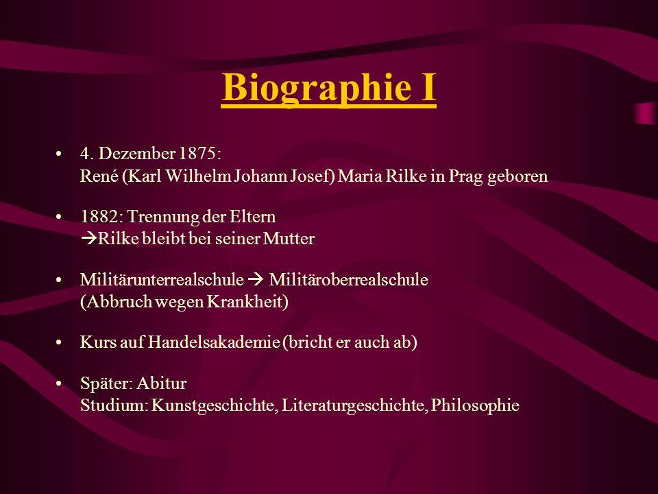 Biographie I 4. Dezember 1875: