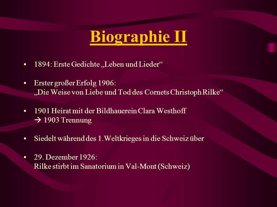 """Biographie II 1894: Erste Gedichte """"Leben und Lieder"""