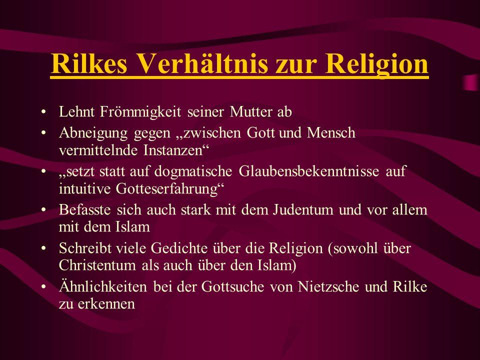 Rilkes Verhältnis zur Religion